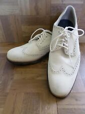 COLE HAAN Lunargrand Lunarlon white suede oxfords brogues wingtips shoes 12