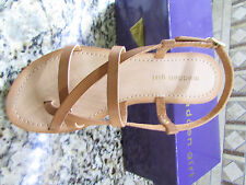 NEW MADDEN GIRL LUDO COGNAC SANDALS WOMENS 9 STRAPPY FREE SHIP