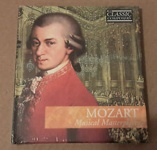 Mozart Musical Masterpieces, CD booklet, sealed unopened, perfect condition.