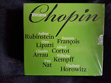 CHOPIN - RUBINSTEIN / FRANCOIS / LIPATTI / CORTOT / ARRAU / KEMPFF / NAT 4 CDs