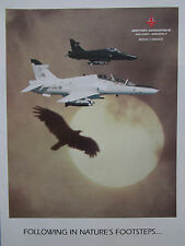 10/1990 PUB BRITISH AEROSPACE MILITARY AIRCRAFT HAWK BROUGH ORIGINAL AD