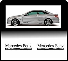 Para Mercedes Benz - 2 X PANEL de cuerpo-cheques de carreras-Coche Decal Sticker Adhesivo
