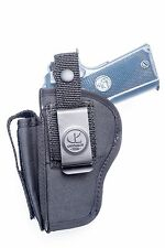 Springfield Micro Compact 1911 | Nylon OWB Belt Holster with Mag Pouch. USA MADE