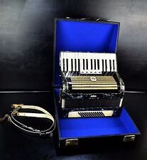 VINTAGE GERMAN TOP PIANO ACCORDION WELTMEISTER 60 bass&HARD CASE~1001Accordions~