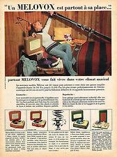 PUBLICITE ADVERTISING 025  1957  MELOVOX   3  éléctrophone tourne-disque