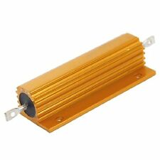 1Pcs Gold Tone Wire Wound 100W Power Aluminum Case Resistor 5% 0.5 Ohm New