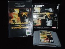 VINTAGE Nintendo 64 comando e conquistare PAL GIOCO n64 lavorando in Scatola