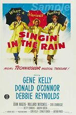 VINTAGE Singing in The Rain movie poster stampa in A4