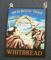1:12 Scale Old Roof Tree Pub Sign Dolls House Miniature Bar Accessory