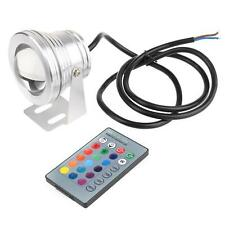 LED Spot Light Remote Control  Stainless steel Underwater Gradual Change Lamp