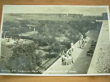 VINTAGE POSTCARD SANATORIUM IN GENNEP - NETHERLANDS - PATIENTS ON THE TERRACE