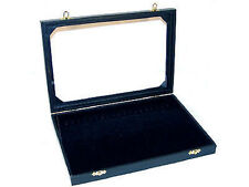 ENCLOSED JEWELRY DISPLAY BOX necklace holder case new TOP GLASS LID OPENING