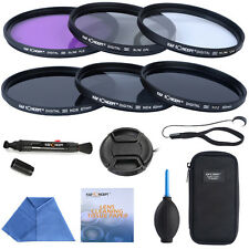 72mm Slim Lente Filter Kit Uv Cpl Fld Nd 2 4 8 Para Canon Eos 50d 60d 70d T3i