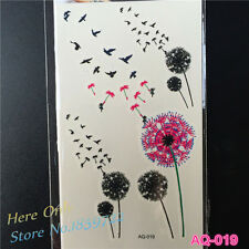 Birds Flying Temporary Tattoo Foil Decal Body Art Fake Tattoo Sticker UK