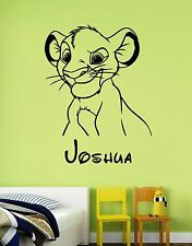 Disney Wall Decal Lion King Simba Custom Name Vinyl Sticker Personalized Decor 1