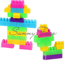 80pcs Assorted Plastic Children Puzzle Educational Building Blocks Bricks Toy