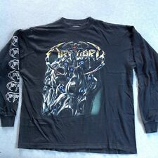 Vintage OBITUARY 1993 LONG SLEEVE T-SHIRT BLUE GRAPE ORIGINAL metal 90s