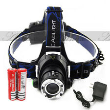 2000LM CREE XM-L T6 LED Headlamp Headlight 18650 flashlight head light lamp A