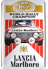 LANCIA RALLY CHAMPION decorazione motivo LAMIERA SCUDO REPLIK tin sign