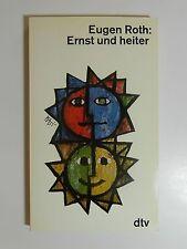 Eugen Roth Ernst und heiter dtv Verlag