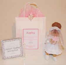 LUXURY PERSONALISED BRIDESMAID & FLOWER GIRL GIFT ~ BRIDE RAG DOLL & BAG