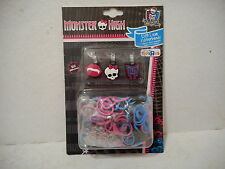 Monster High DIY Loom Rubberbands - Pkg of 300 Bands/3 Charms/12 Connects - NEW