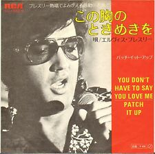 "ELVIS PRESLEY ""YOU DON'T HAVE TO SAY YOU LOVE ME"" SP 1970 RCA VICTOR JAPON !"