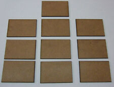 2mm MDF bases 40mm x 60mm pack of 10 for DBMM, FOG or DBA