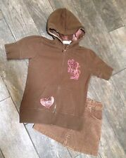 Oneill Short Sleeve Brown Sweatshirt Corduroy Short Tcp L 10 Lot Hoodie Girls