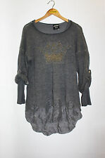 JEAN PAUL GAULTIER Distressed Layered Sweater Golden Crown Top Size M