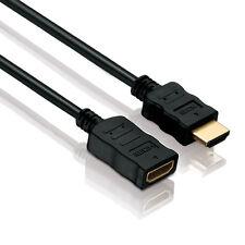 HDMI Verlängerungskabel Kabel Verlängerung FULL HD 3D 4K vergoldet 5,0m 5m
