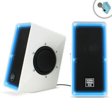 GOgroove SonaVERSE O2i USB Computer Speakers with LED Lights and Volume Control