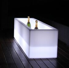 LED RECTANGULAR ICE BUCKET COLOR CHANGING PARTY WINE CHAMPAGNE COOLER DRINKS BAR