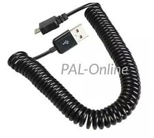 3M Spring Spiral Coiled USB Male A to Micro USB Data Sync Charger Cable