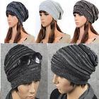 Unisex Women Men Knit Baggy Beanie Hats Winter Warm Oversized Ski Slouch Cap Hat
