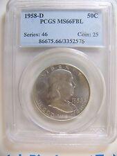 1958-D Franklin Dollar PCGS MS 66 FBL Cert# 3352576