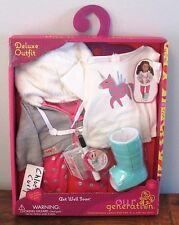 "Our Generation GET WELL SOON UNICORN Clothes Outfit w Cast Set 18"" Girl Doll NEW"
