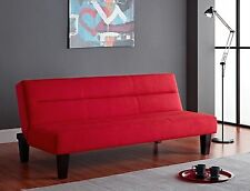 NEW Red Futon Microfiber Sleeper Sofa Bed Couch FREE SHIPPING!