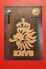 Panini EURO 2004 N. 317 NEDERLAND BADGE  NEW With BLACK BACK TOPMINT!!