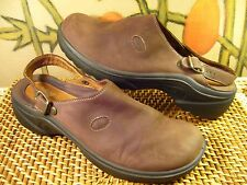 Very Nice! ROMIKA Brown Nubuck Leather Sling-back Clog Women's US Size 9 M (40)