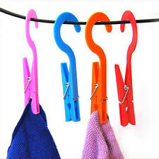 Hot On Sale High Practical Laundry Travel Clothes Towels Hanger Hook Clips