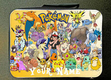 RED  Custom Print Unofficial Retro Pokemon Insulated Lunch Bag 24CM X 18CM
