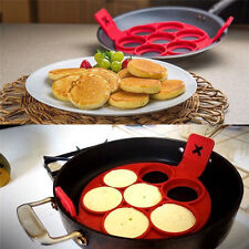 Non Stick Pancake Pan Flip  Breakfast Maker Egg Omelette Flipjack Tool 2017 New~