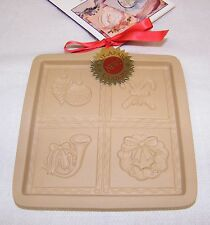 New Brown Bag 1997 Christmas Cut Apart Cookie Art Chocolate Paper Wax Craft Mold