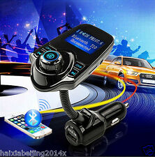 Car Wireless Bluetooth 1.44 Screen LCD FM Transmitter Handsfree with USB Charger