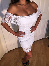 Sexy White Lace Strapless off the shoulder Dress  (Spanish Style dress) S/M