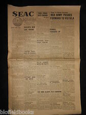 WWII Era SEAC (South East Asia Command) Newspaper July 27th 1944, Military, War
