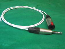 "1 Ft SILVER PLATED 6.35 MM 1/4"" SILVER AUDIOPHILE HEADPHONE EXTENSION CABLE."