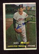DON MOSSI 1957 TOPPS SIGNED AUTOGRAPHED CARD #8 COA