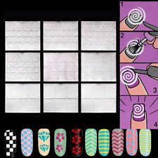 12PCS/Set French Manicure Nail Art Tips Tape Sticker Polish Guides Stencil DIY
